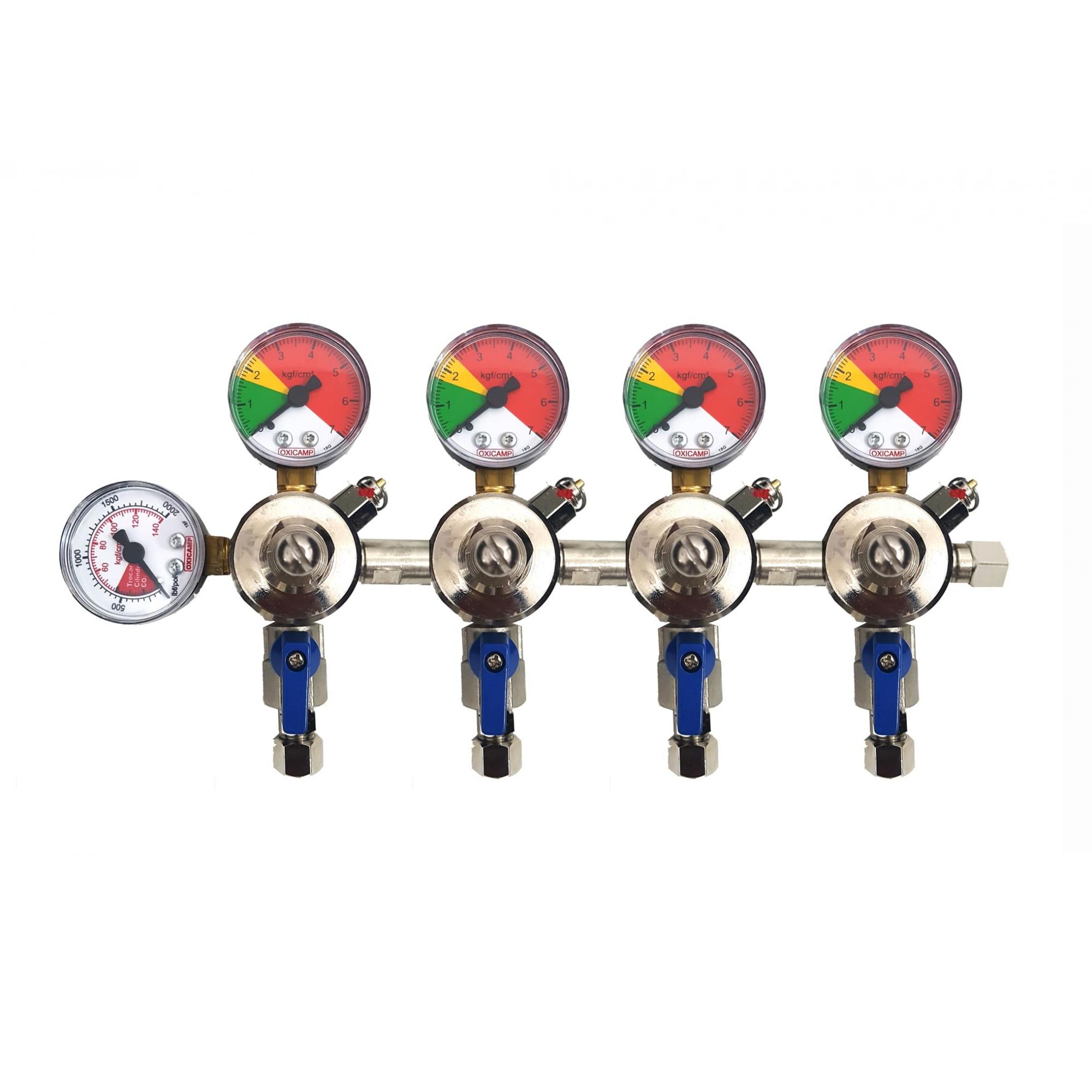 Régua Manifold Com Controle Individual CO2