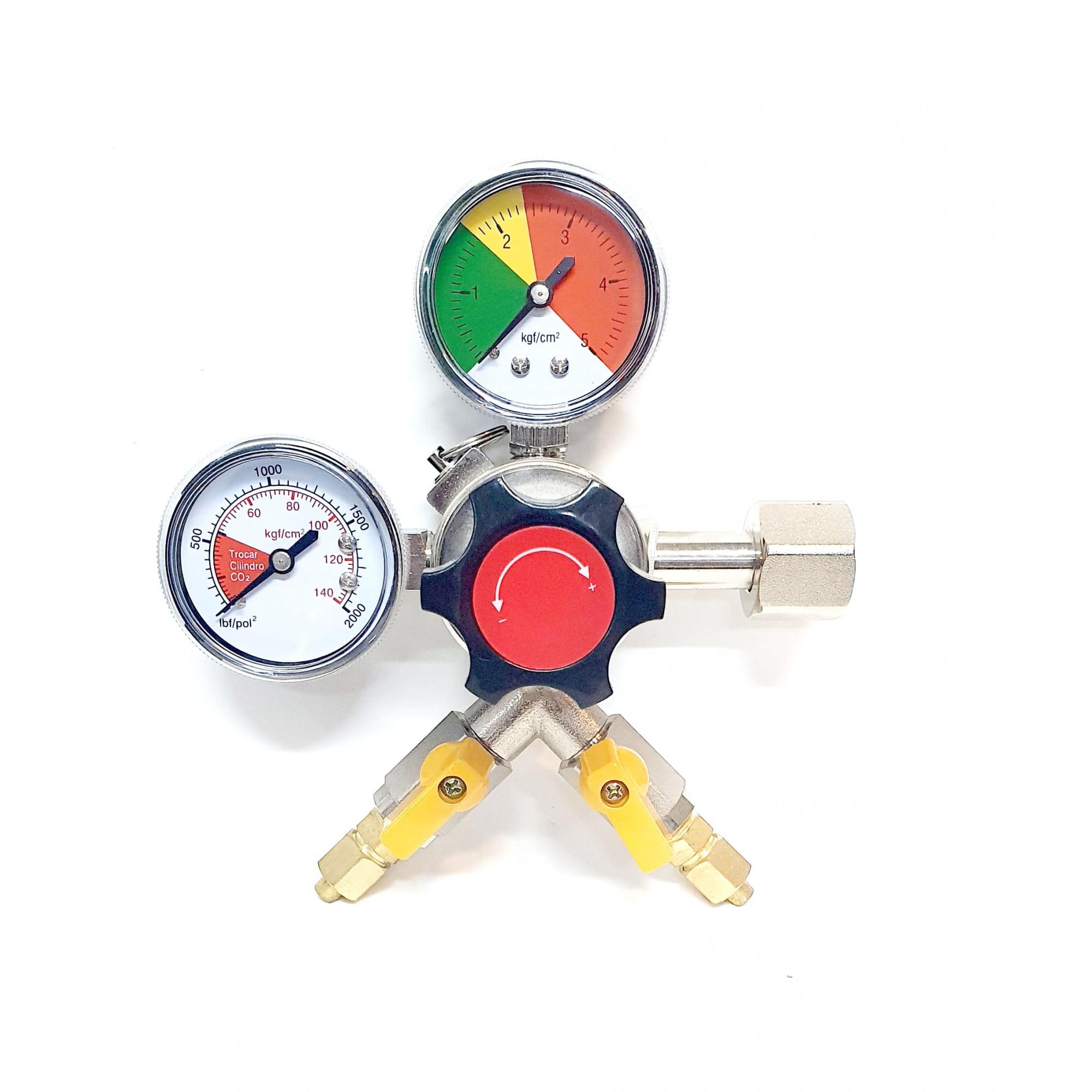 Regulador De Pressão Chopp 2 Vias CO2