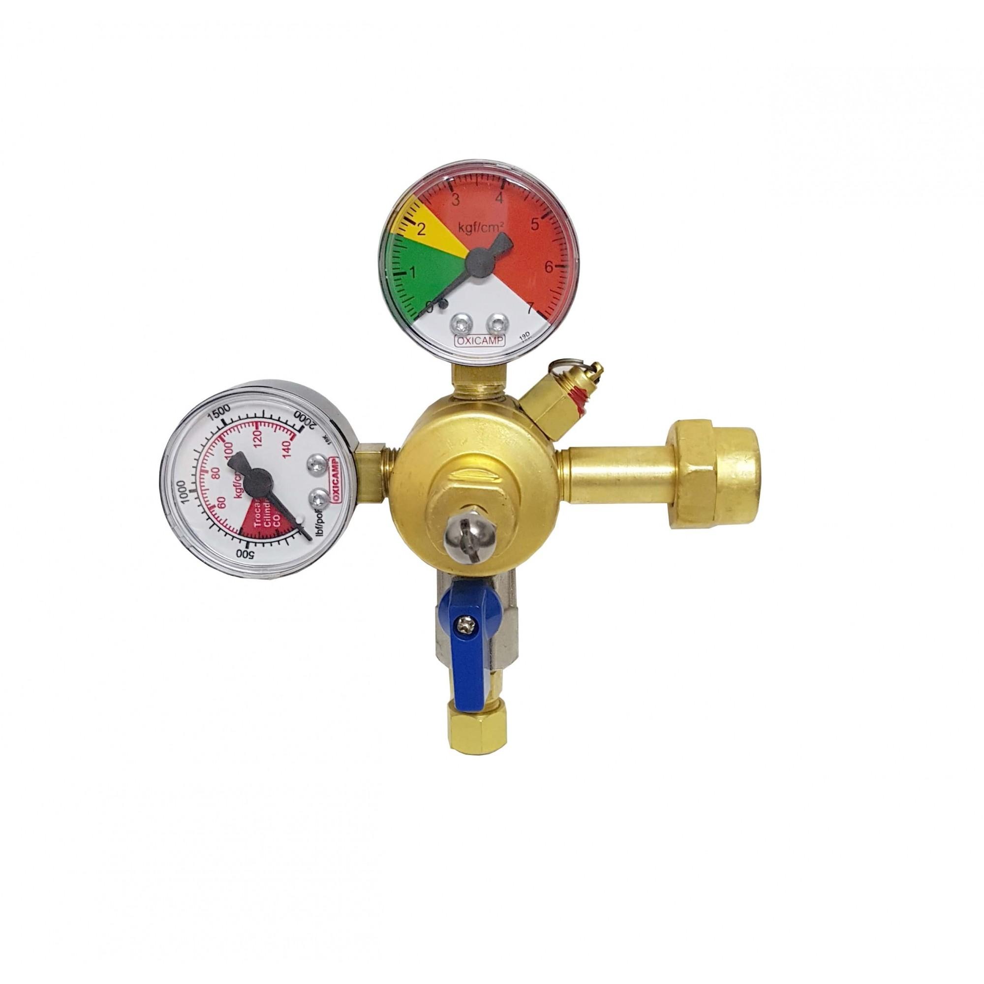 Regulador de Pressão CO2 1 Saída