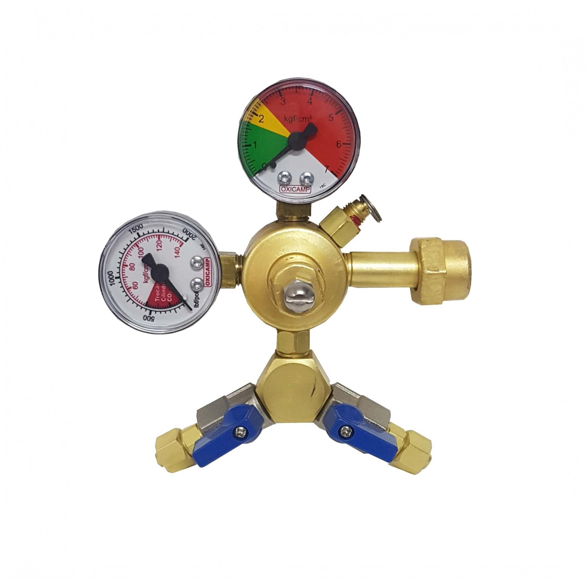 Regulador de Pressão CO2 2 Saídas