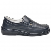 Sapato Social Preto Confort CR-1003 Cla-Cle