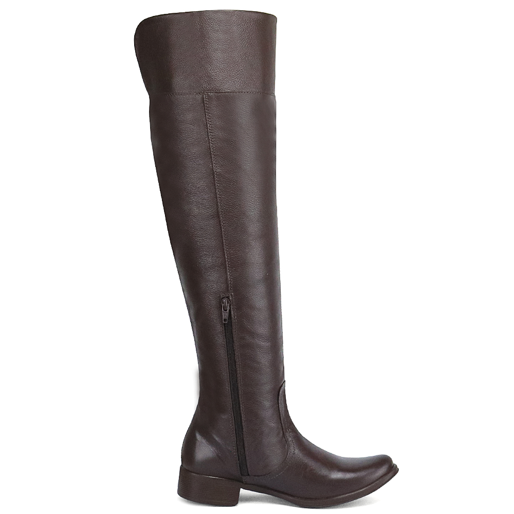 Bota Feminina Over The Knee Cano Longo Couro Legítima 206 Cla-Cle