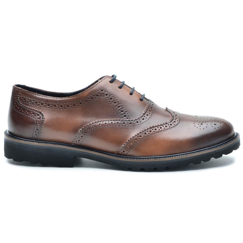 Sapato Masculino Oxford Brogue Wing P5000 Cla-Cle