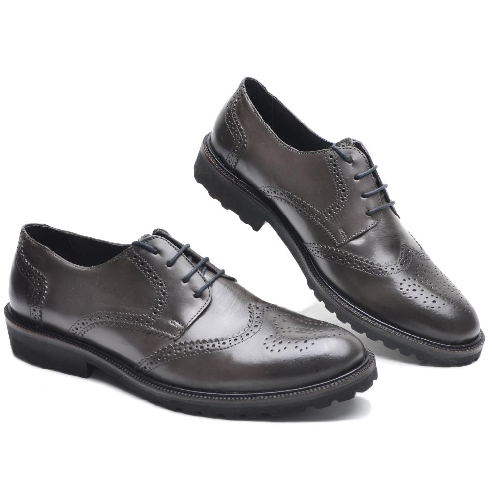 Sapato Masculino Oxford Derbi Wing P5003 Cla-Cle