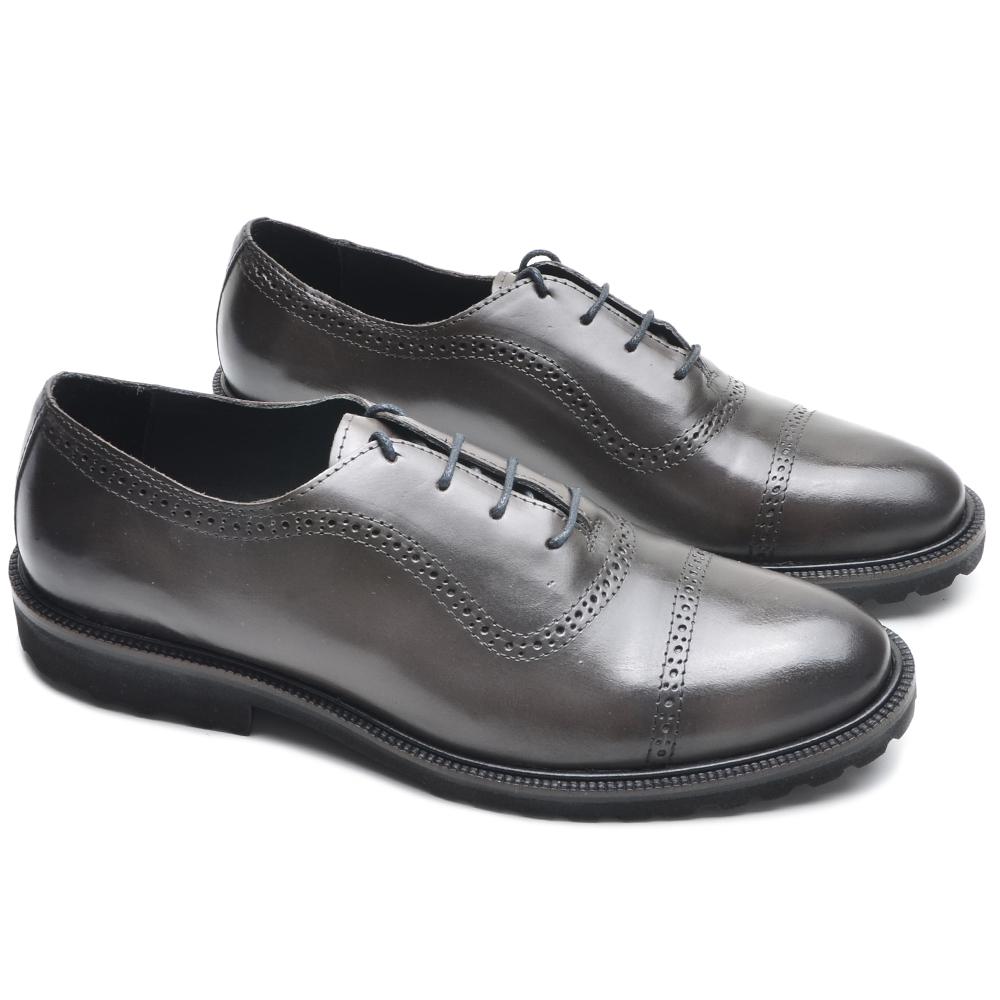Sapato Masculino Oxford Full Amêndoa P5002 Cla-Cle