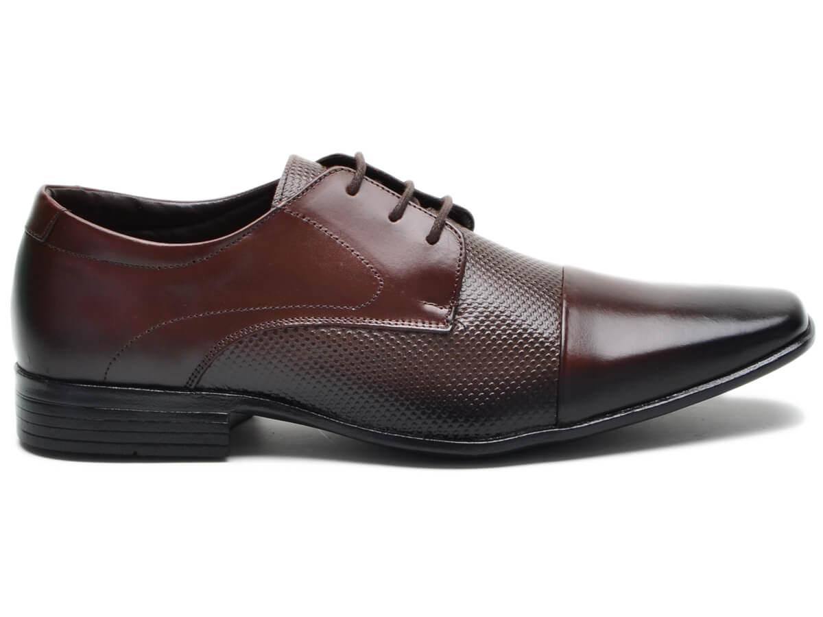 Sapato Masculino Social Couro Vegetalle Soft Legítimo Café R-7572 Cla-Cle