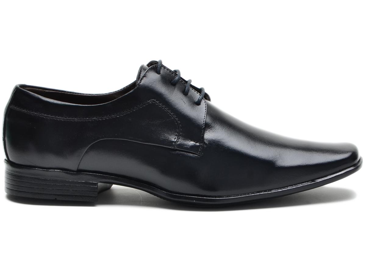 Sapato Masculino Social Preto Couro N. Itália R-9904 Cla-Cle