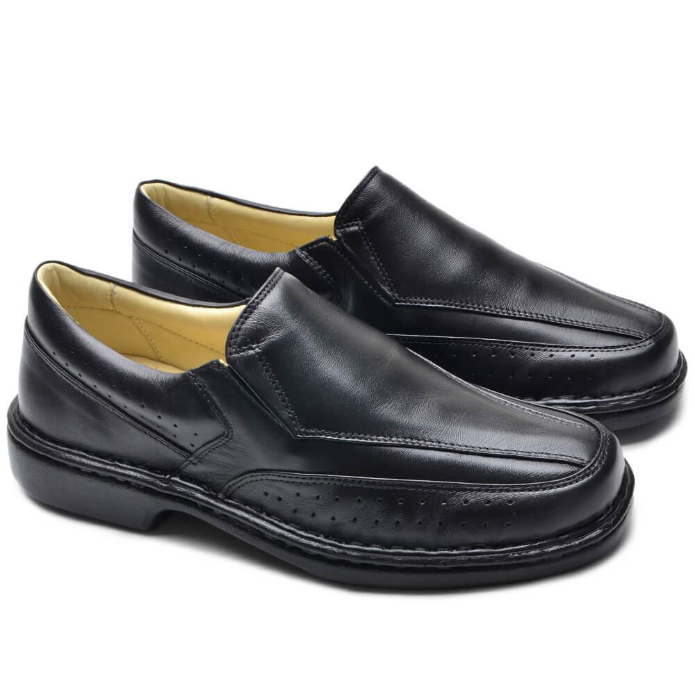 Sapato Social Preto Confort 180 Cla-Cle