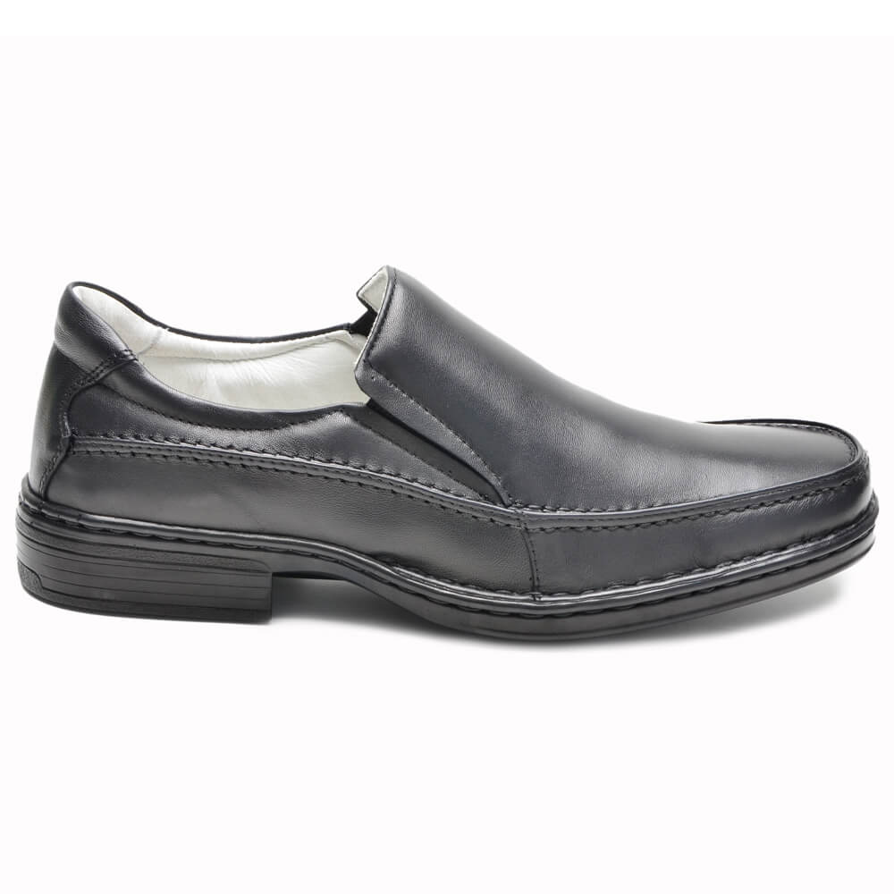 Sapato Social Preto Confort C-007 Cla-Cle