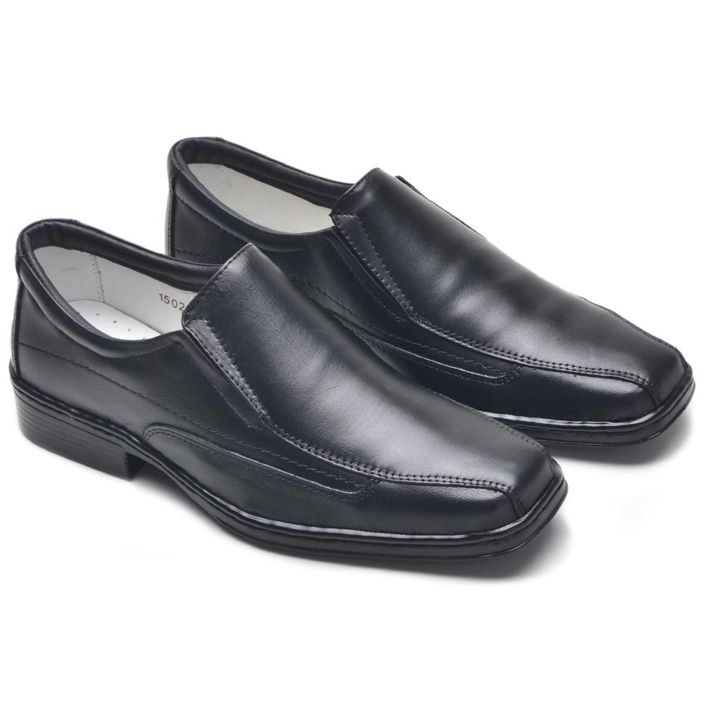 Sapato Social Preto Confort FM-1502 Cla-Cle