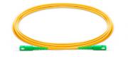Patch Cord Fibra SC/APC SC/APC SM SX 3.0MM 2MTS C/ 10 Verde Verde