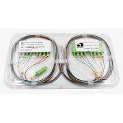 Splitter Óptico PLC 1x16 SC/APC Verde