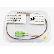 Splitter Óptico PLC 1x2 SC/APC Verde
