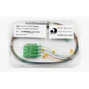 Splitter Óptico PLC 1x4 SC/APC Verde