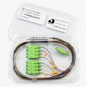 Splitter Óptico PLC 1x8 SC/APC Verde