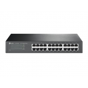 Switch Gigabit TP-LINK de mesa ou montável em rack de 24 portas 24 portas 10/100/1000 Mbps