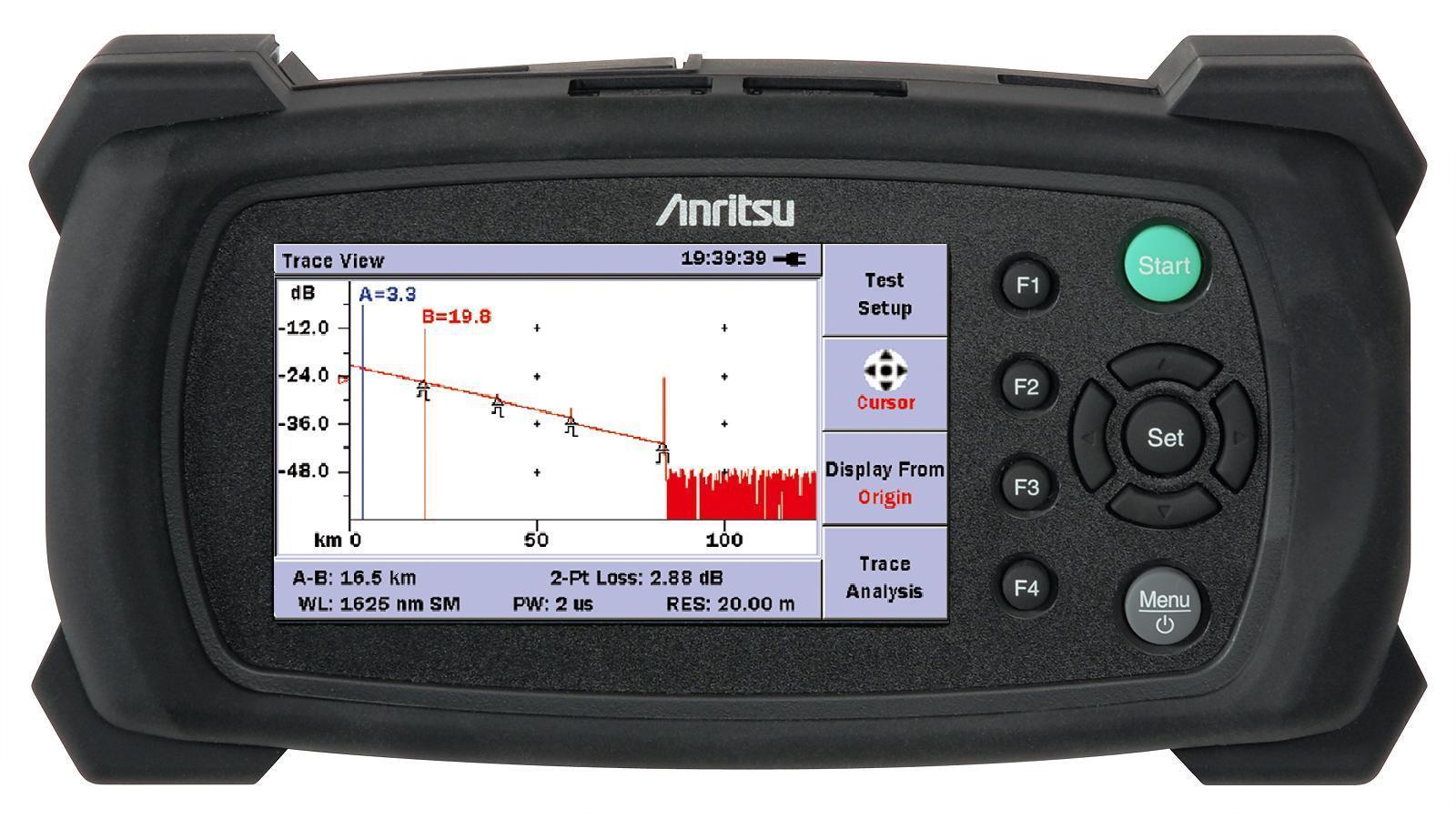 Mini OTDR Anritsu com Filtro de medição  - FASTWIRELESS