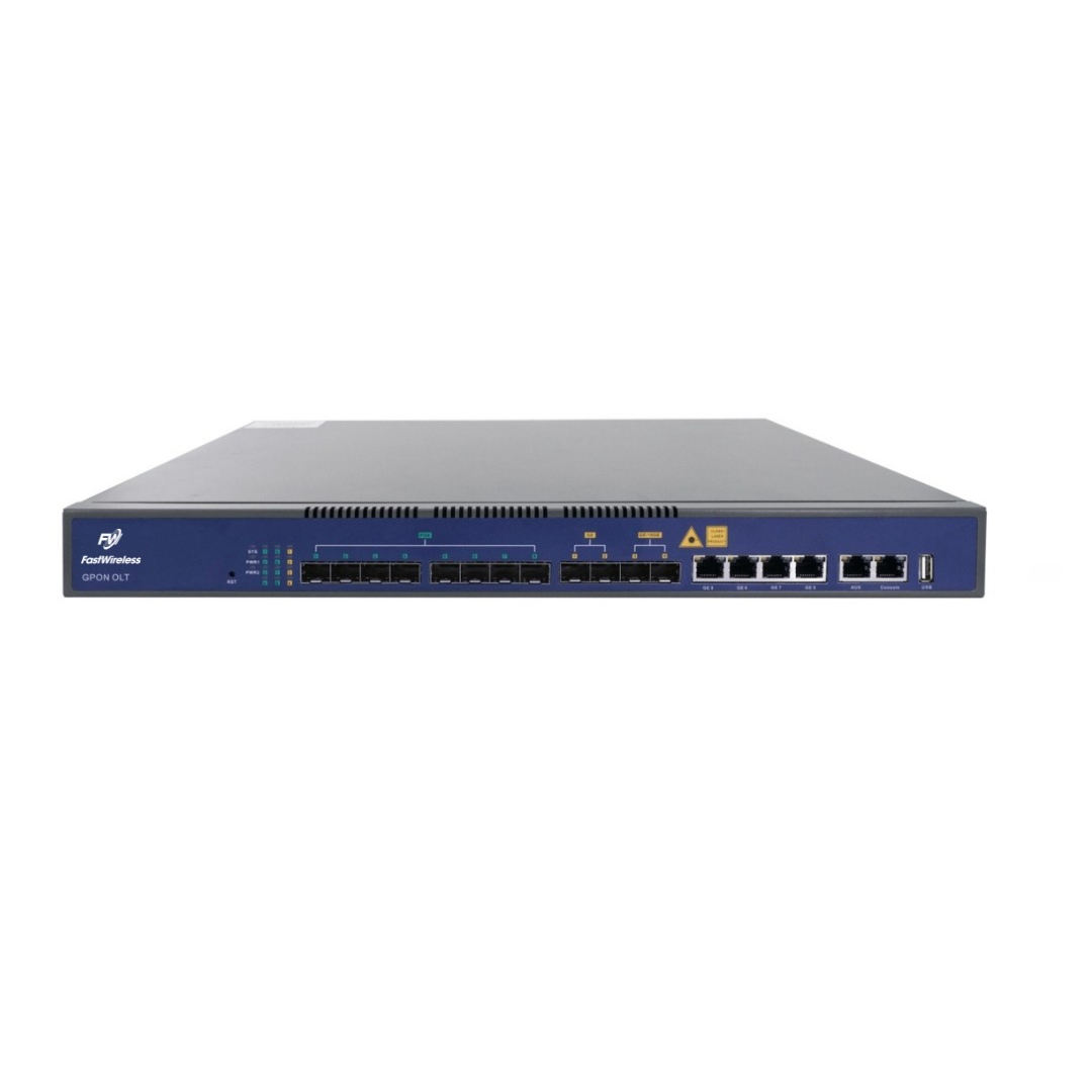 OLT GPON 8 Portas - FW1600G1 B - Linha FTTx Fastwireless  - FASTWIRELESS