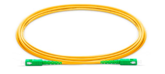 Patch Cord Fibra SC/APC SC/APC SM SX 3.0MM 2MTS C/ 10 Verde Verde  - FASTWIRELESS