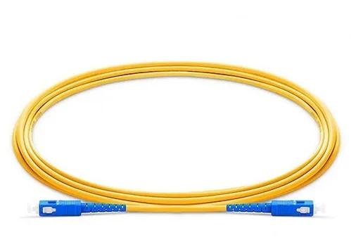 Patch Cord Fibra SC/UPC SC/UPC SM SX 3.0MM 2MTS C/ 10 Azul Azul  - FASTWIRELESS