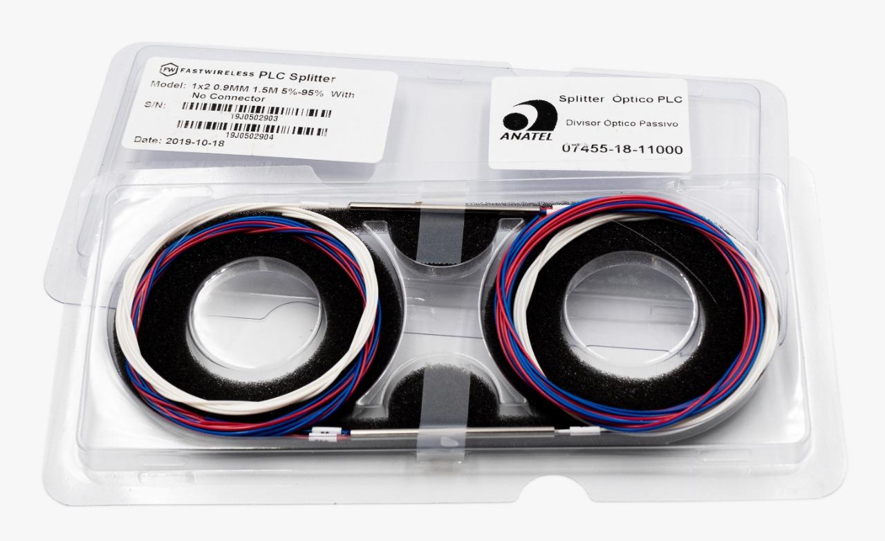 Splitter Óptico PLC 1x2 Desbalanceado  - FASTWIRELESS