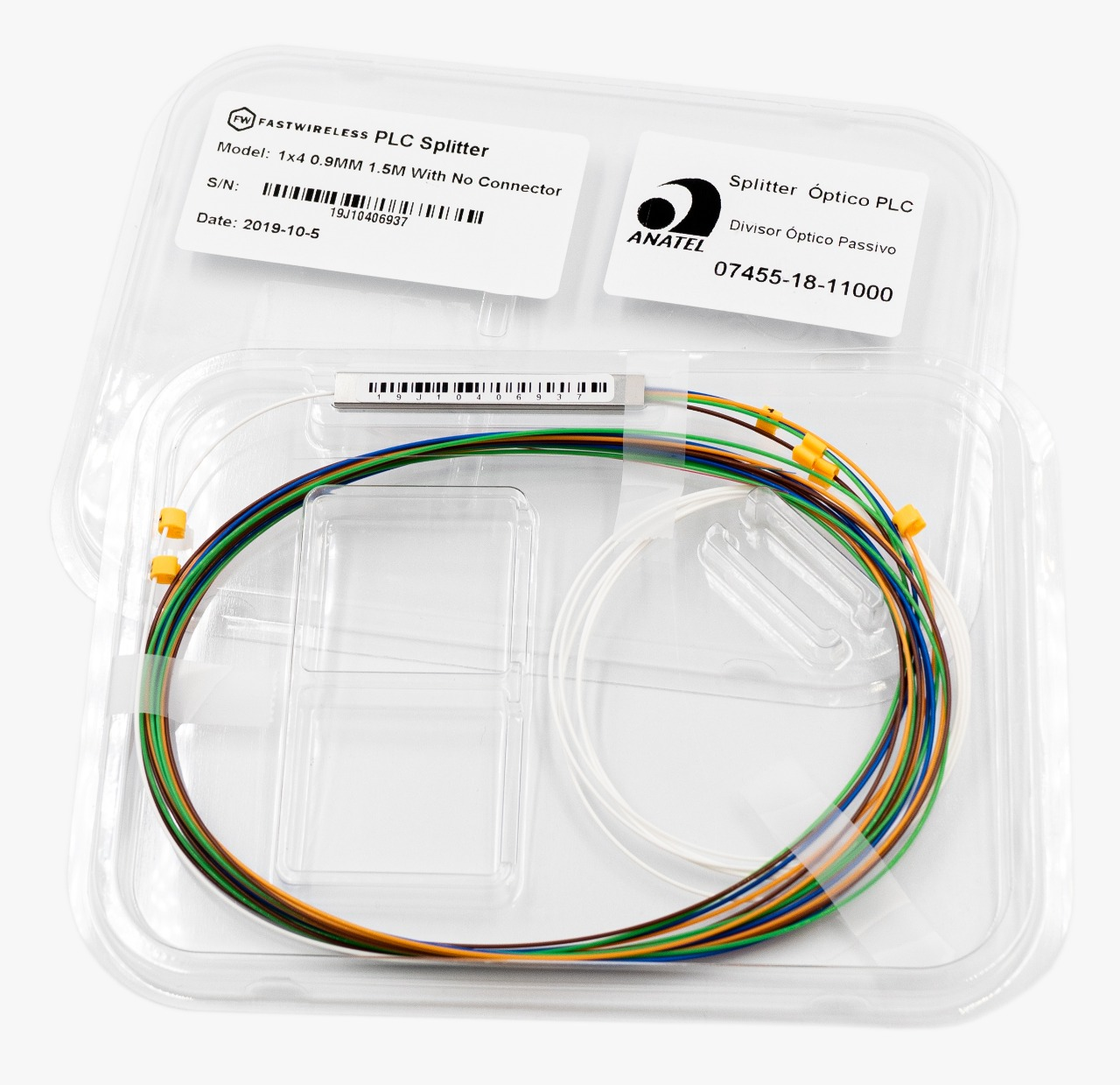 Splitter Óptico PLC 1x4 Desconectorizado  - FASTWIRELESS