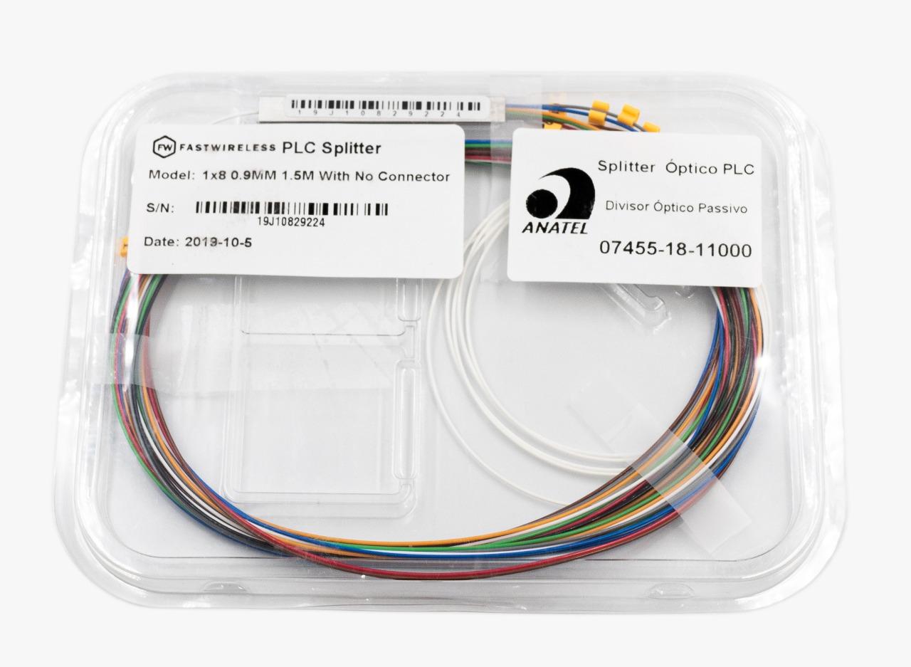 Splitter Óptico PLC 1x8 Desconectorizado  - FASTWIRELESS