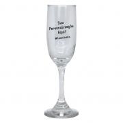 Taça de Champanhe de Vidro Personalizada
