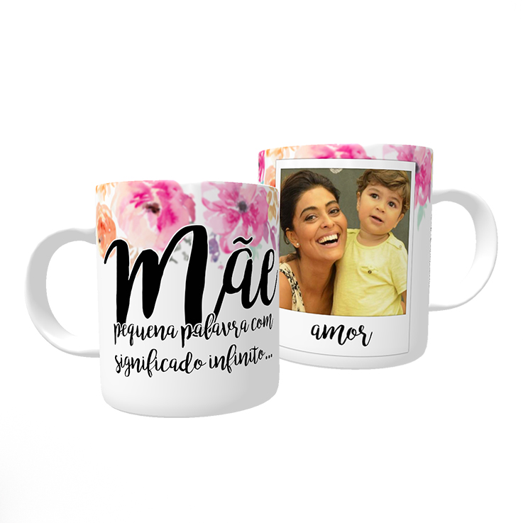Caneca + Almofada Personalizada: Mãe, amor infinito