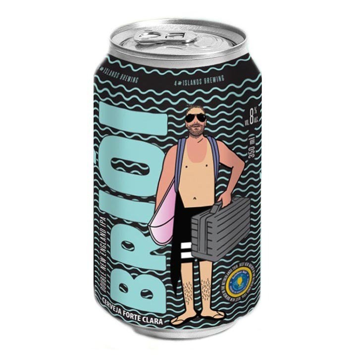 Cerveja 4 Islands Brioi Double NEIPA Lata 473ml