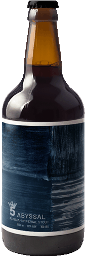 Cerveja 5 Elementos Abyssal Russian Imperial Stout Garrafa 500ml  - Geek N