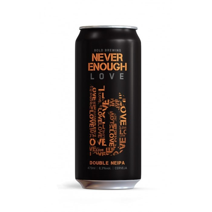 Cerveja Bold Brewing Never Enough Love Double NEIPA Lata 473ml