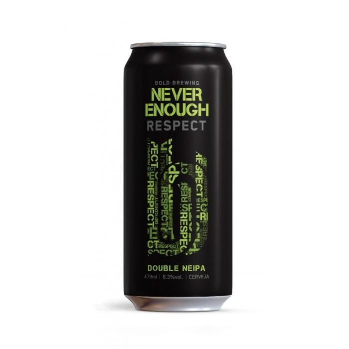 Cerveja Bold Brewing Never Enough Respect Double NEIPA Lata 473ml