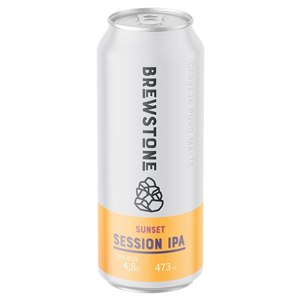Cerveja Brewstone Sunset Session IPA Lata 473ml  - Geek N