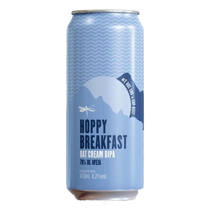 Cerveja Dádiva Hoppy Breakfast #2 Oat Cream Double IPA Lata 473ml
