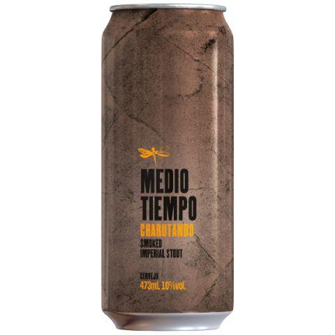 Cerveja Dádiva Medio Tiempo Charutando Smoked Imperial Stout Lata 473ml  - Geek N