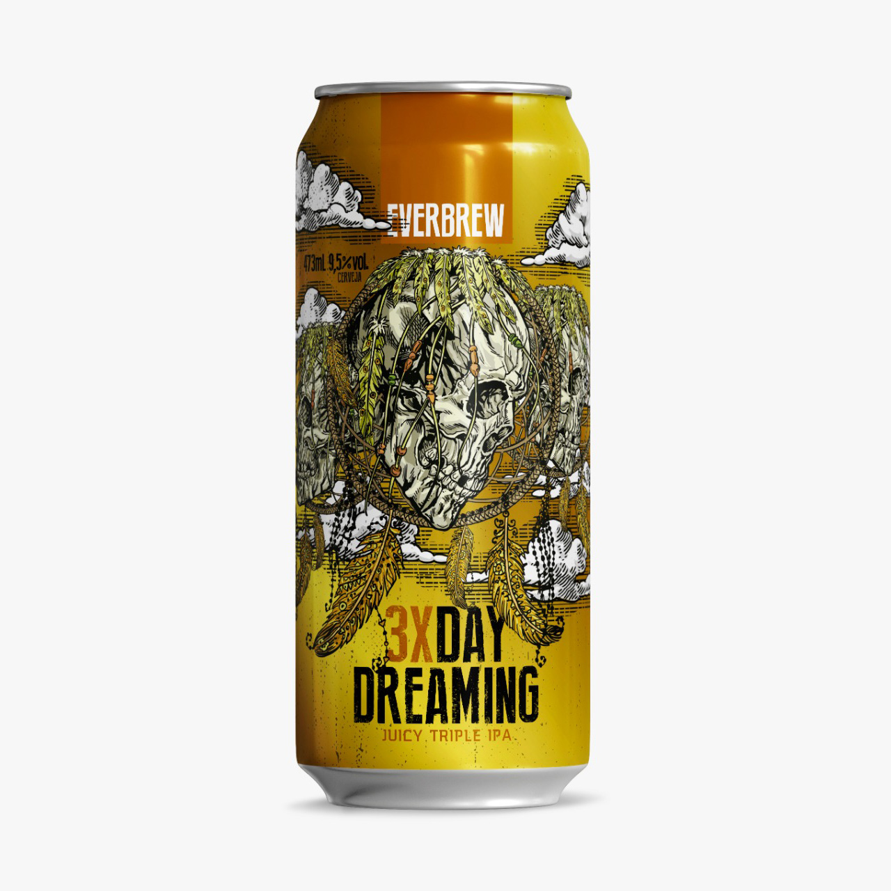 Cerveja Everbrew 3x Day Dreaming Triple NEIPA Lata 473ml  - Geek N