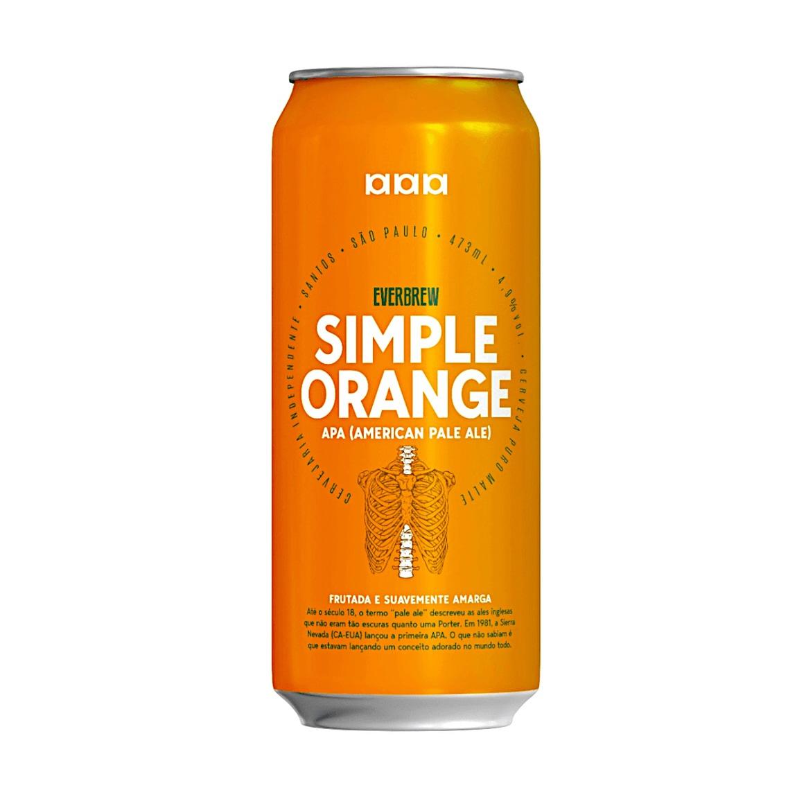 Cerveja Everbrew Simple Orange American Pale Ale Lata 473ml  - Geek N