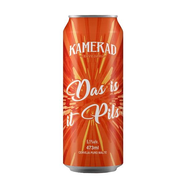 Cerveja Kamerad Das Is It Pils German Pils Lata 473ml