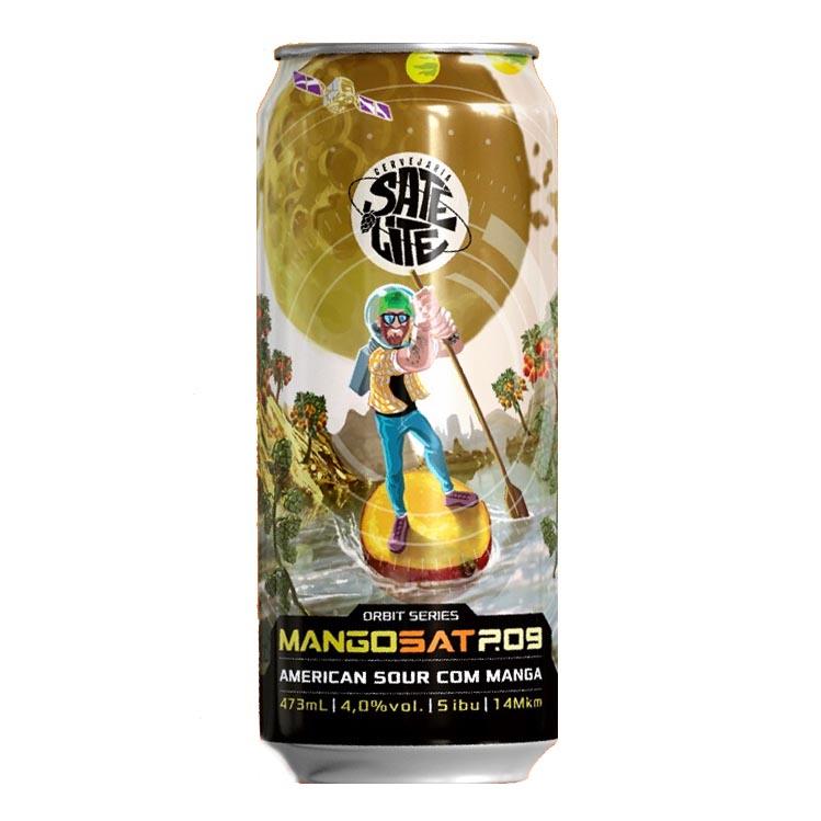 Cerveja  Satélite MangoSat P. 09 American Sour Ale Com Manga 473ml