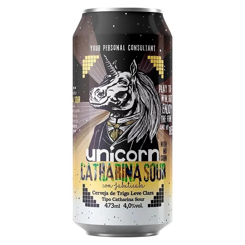 Cerveja Unicorn Catharina Sour Jabuticaba Lata 473ml  - Geek N