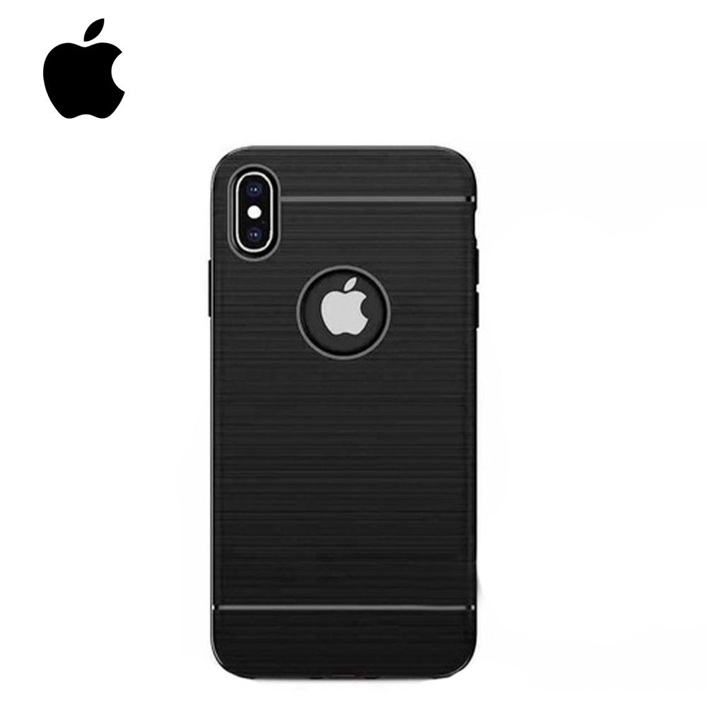 Capinha de Silicone Preta - Apple