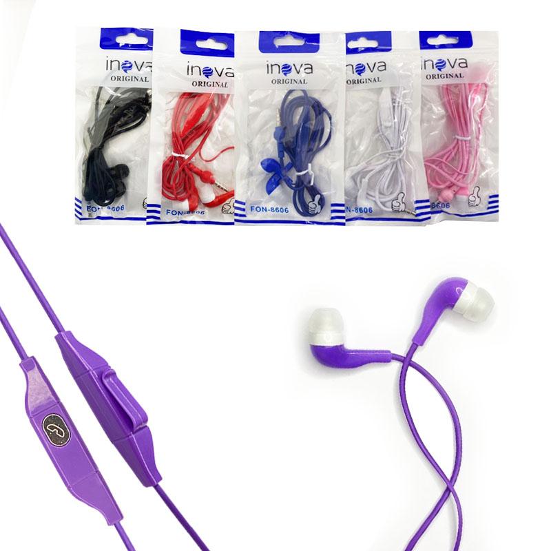 Fone de Ouvido Intra-Auricular com Microfone - Inova - FON-8606