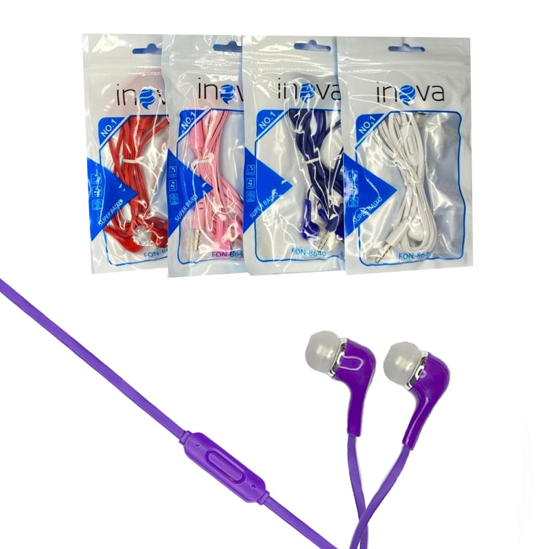 Fone de Ouvido Intra-Auricular com Microfone - Inova - FON-8640