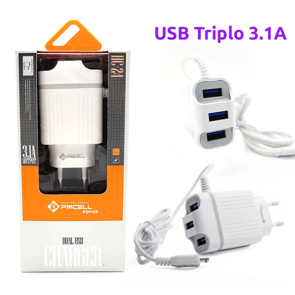 Fonte / Carregador 3.1A + Cabo Micro USB - PMCELL - HC-24