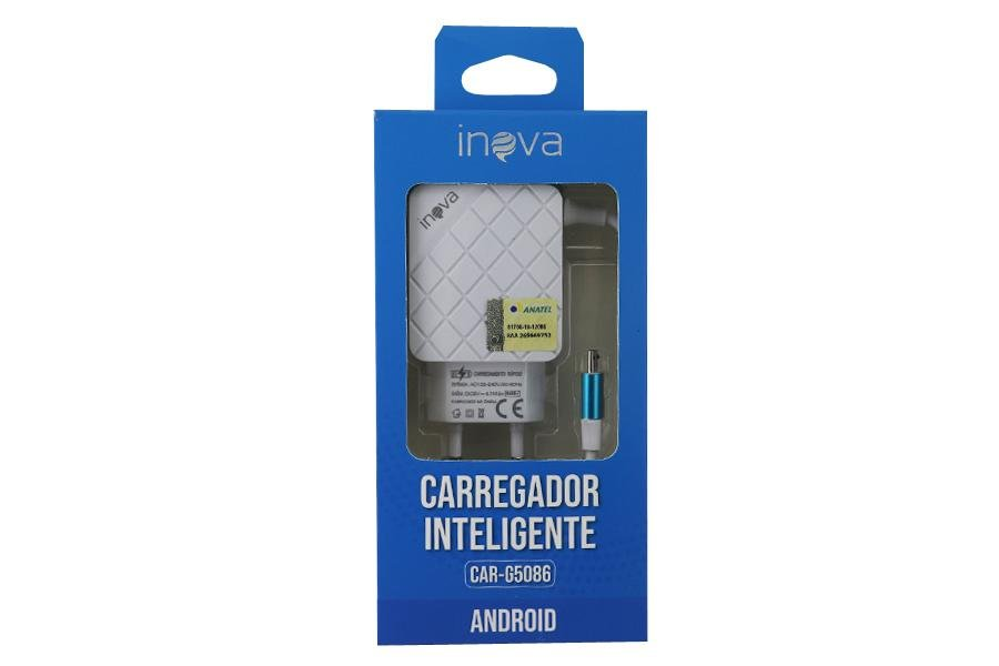 Fonte / Carregador Dual USB 4.1A - Inova - CAR-G5086