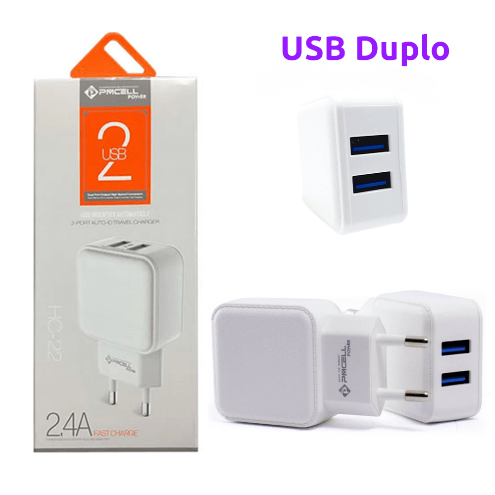 Fonte / Carregador Power 2.4A Dual USB - PMCELL - HC-22