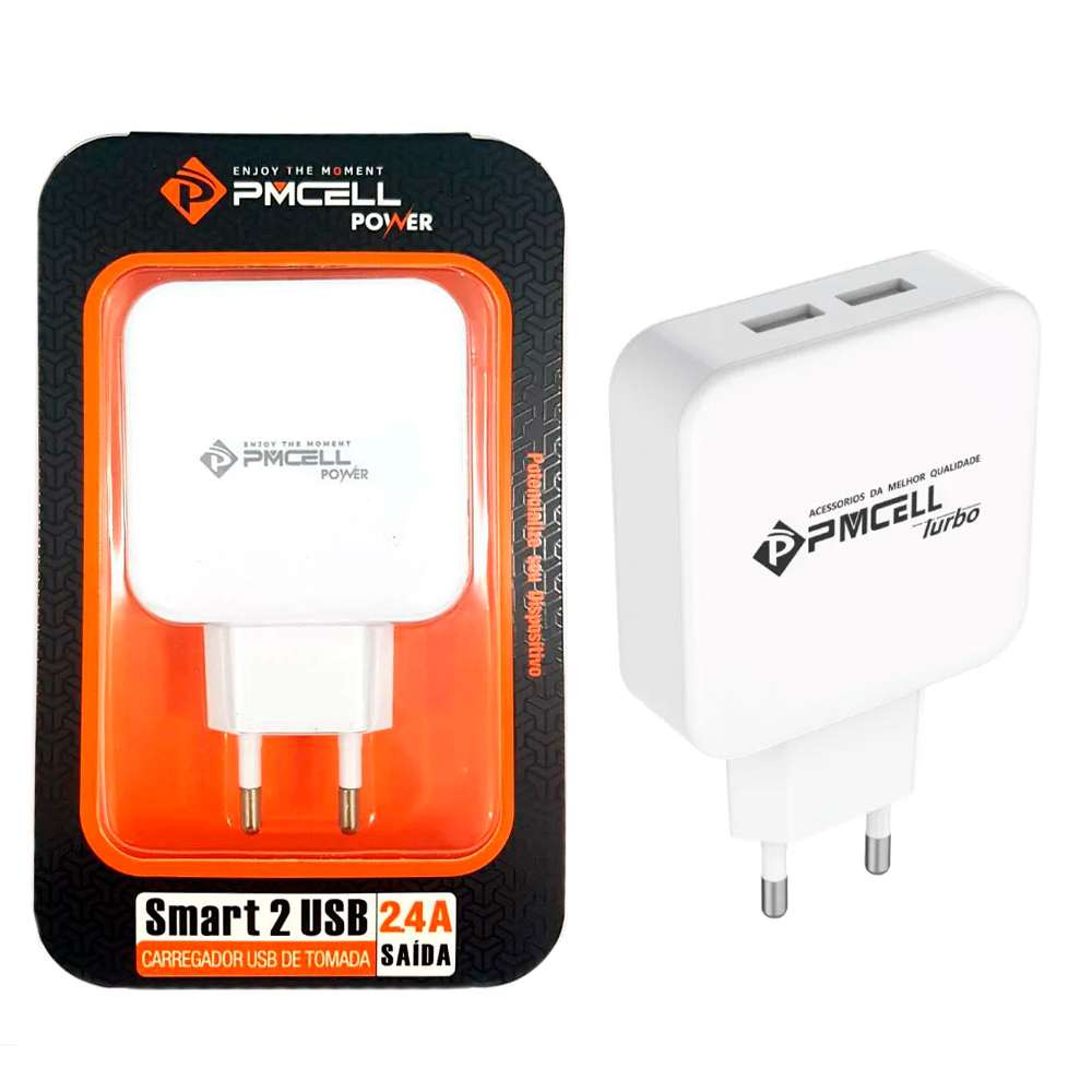 Fonte / Carregador Smart Dual USB - PMCELL - HC-21