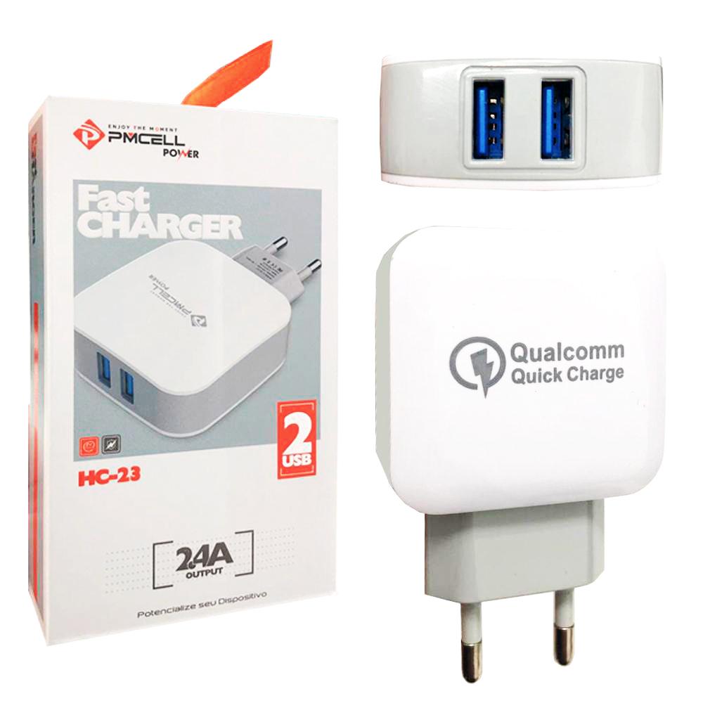 Fonte / Carregador Turbo Fast 2.4A Dual USB - PMCELL - HC-23