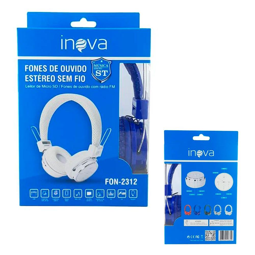 Headphone Bluetooth - Inova - FON-2312